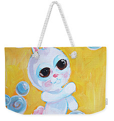 Bunny And The Bubbles Painting For Children Weekender Tote Bag