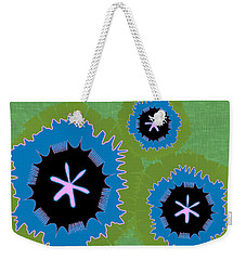 Weekender Tote Bag featuring the digital art Bunny Flower by Kevin McLaughlin
