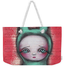 Bunny Girl Weekender Tote Bag by Abril Andrade Griffith