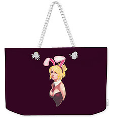 Bunny Girl T-shirt Weekender Tote Bag by Herb Strobino