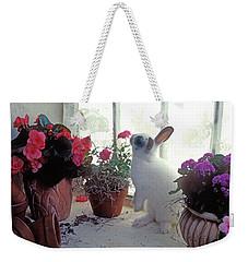 Bunny In Window Weekender Tote Bag