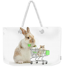 Bunny Shopping Weekender Tote Bag