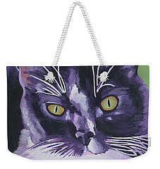 Tuxedo Black And White Cat Weekender Tote Bag