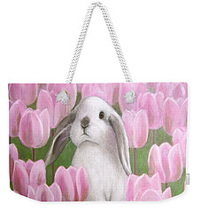 Bunny With Tulips Weekender Tote Bag