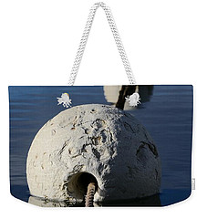 Weekender Tote Bag featuring the photograph Buoy In Detail by Stephen Mitchell