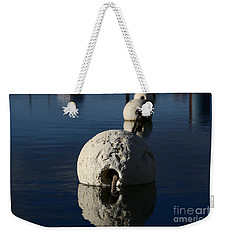 Weekender Tote Bag featuring the photograph Buoy Upfront by Stephen Mitchell