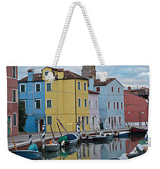 Burano Italian Reflection Weekender Tote Bag