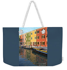 Weekender Tote Bag featuring the photograph Burano Italy 1 by Rebecca Margraf