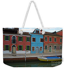 Burano Italy Boat Reflection Weekender Tote Bag