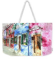 Burano Italy Buildings Weekender Tote Bag