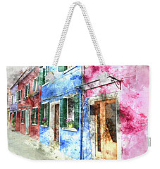 Burano Italy Buildings Weekender Tote Bag