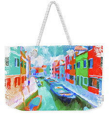 Burano, Venice, Italy Weekender Tote Bag