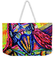 Weekender Tote Bag featuring the painting Burden by Viktor Lazarev