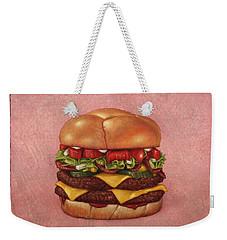 Burger Weekender Tote Bag