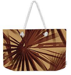 Burgundy And Coffee Tropical Beach Palm Vector Weekender Tote Bag