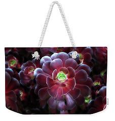 Burgundy Succulenta Weekender Tote Bag by Douglas Barnard