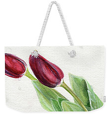 Burgundy Tulips Weekender Tote Bag