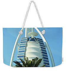 Weekender Tote Bag featuring the photograph Burj Al Arab by Hanza Turgul