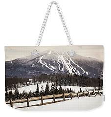 Burke Mountain And Fence Weekender Tote Bag