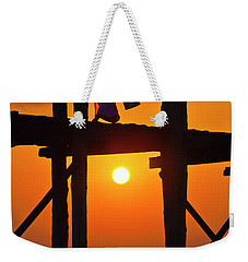 Weekender Tote Bag featuring the photograph Burma_d807 by Craig Lovell