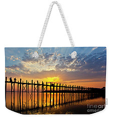 Weekender Tote Bag featuring the photograph Burma_d819 by Craig Lovell