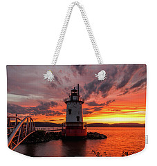Burn On The Hudson Weekender Tote Bag