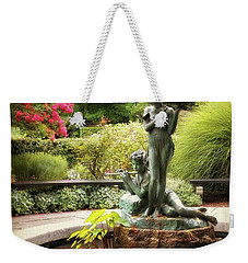 Burnett Fountain Garden Weekender Tote Bag