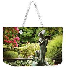 Burnett Fountain Garden Weekender Tote Bag by Jessica Jenney