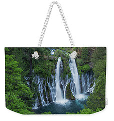 Weekender Tote Bag featuring the photograph Burney Creek Falls by Patricia Davidson