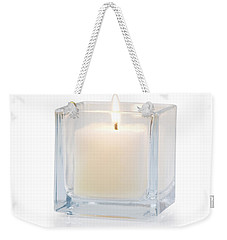 Burning Candle Side View 20 Degree Weekender Tote Bag