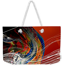 Burning City Sunset Weekender Tote Bag by Thibault Toussaint