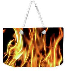 Burning Flames Fractal Weekender Tote Bag