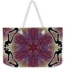 Weekender Tote Bag featuring the digital art Burning Movement by Derek Gedney