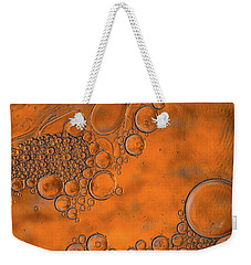 Burnt Bubble Fire Plate Weekender Tote Bag by Bruce Pritchett