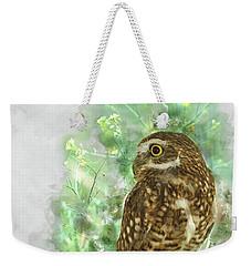 Burrowing Owl In Profile Weekender Tote Bag