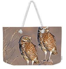 Burrowing Owls At Salton Sea Weekender Tote Bag