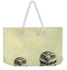 Burrowing Owls Weekender Tote Bag by James W Johnson