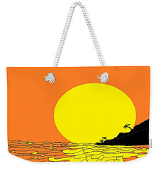 Burst Of Yellow Weekender Tote Bag by Linda Velasquez