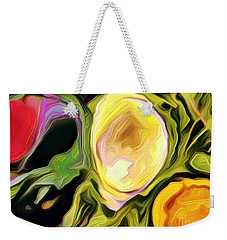 Weekender Tote Bag featuring the photograph Three Sisters by Kathie Chicoine