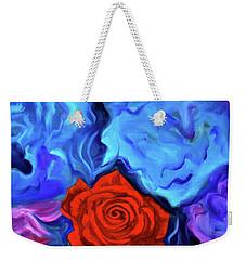 Bursting Rose Weekender Tote Bag by Jenny Lee
