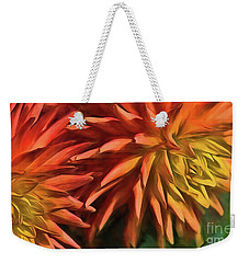 Bursting With Color Weekender Tote Bag by Mary Lou Chmura