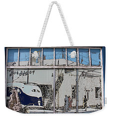 Vintage Bus Depot Sign Weekender Tote Bag