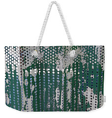 Weekender Tote Bag featuring the photograph Bus Stop Art by Esther Newman-Cohen