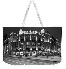 Busch Stadium St Louis Black And White  Weekender Tote Bag