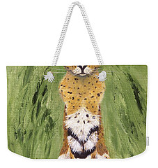 Weekender Tote Bag featuring the painting Bush Cat by Jamie Frier