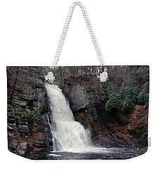 Weekender Tote Bag featuring the photograph Bushkill Falls by Linda Sannuti