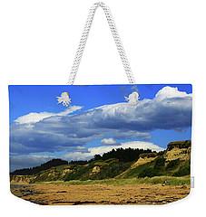 Weekender Tote Bag featuring the photograph Bushy Beach by Nareeta Martin