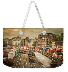 Busines End Of The City... Weekender Tote Bag