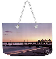 Weekender Tote Bag featuring the photograph Busselton Jetty Sunrise by Ivy Ho
