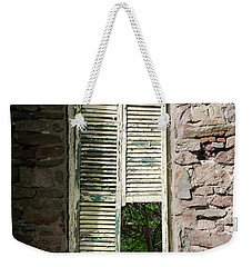 Weekender Tote Bag featuring the photograph Busted Shutter In The Shaddows  by Bill Cannon
